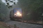 No79 Amtk 153 hits Lumber Yd Road in the rain....