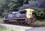 CSX 7813 tired of pushing coal trains over the mountain