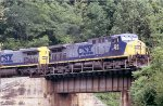 SB coal train going over Clinchfield bridge