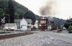 Empty coal train busting through the curfew