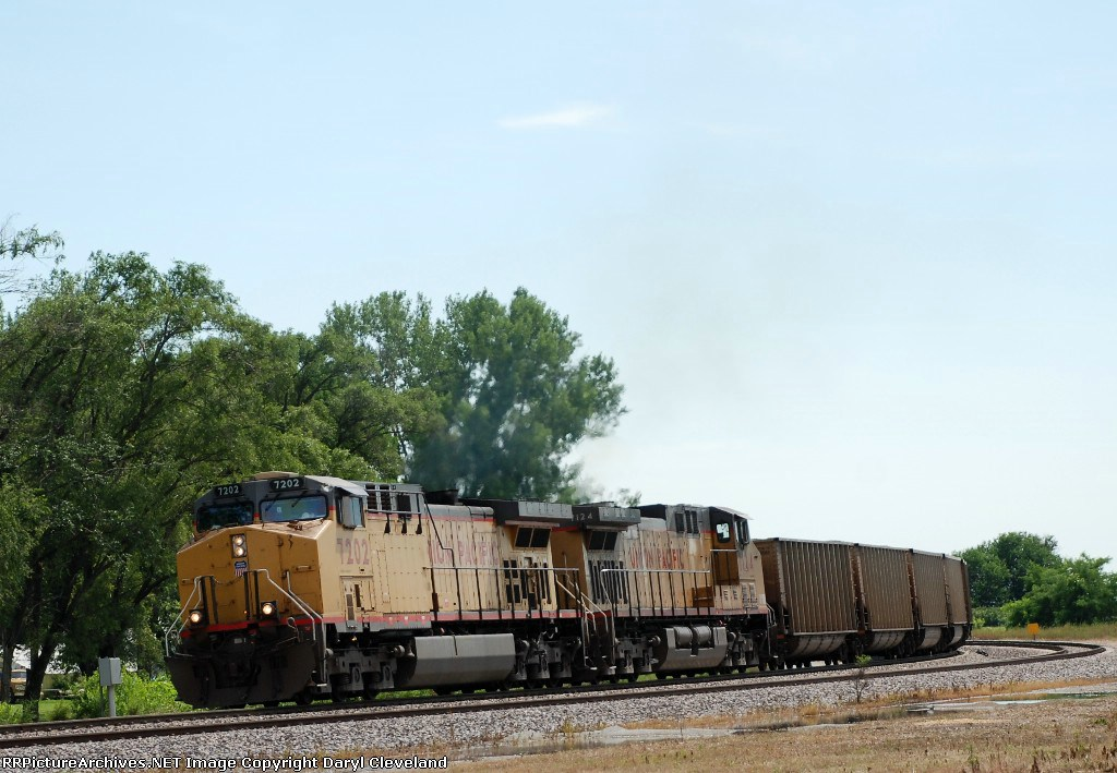 UP 7202 EB Coal up from Council Bluffs