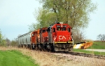 CN 6110 on its way back to the plant
