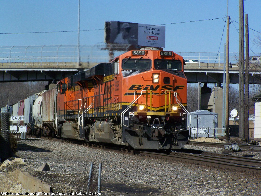 A BNSF Freight Manifest Rumbles East on the Aurora Sub Past a Crossover