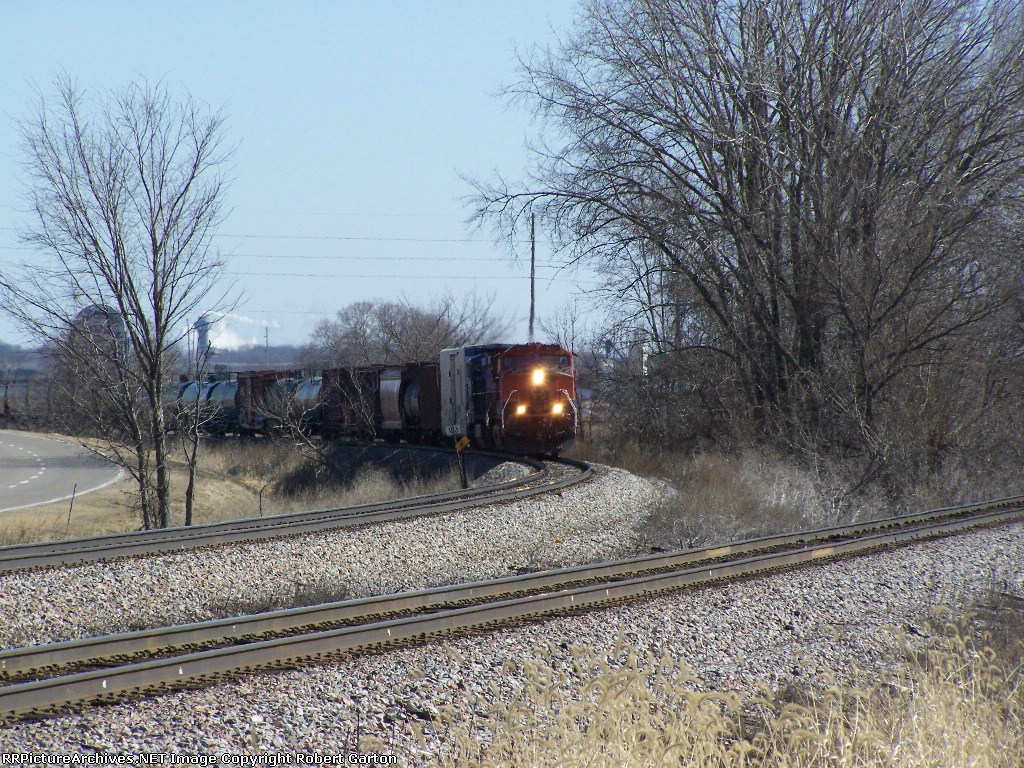 12-Year-Old BNSF Power Rounds a Curve With a Freight Manifest