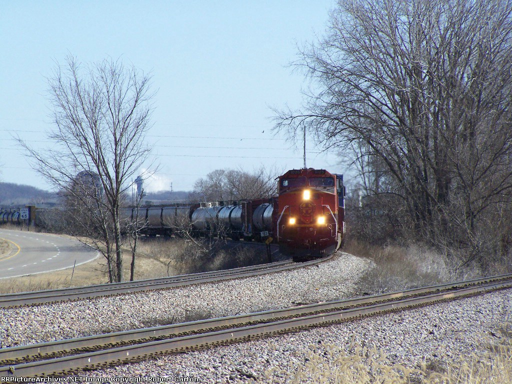 BNSF 1025 (Westbound) Knocks Down MP 183 on Main 1 of the Aurora Sub