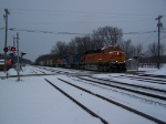 BNSF 6160 Resumes Through Town After a Short Delay