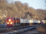 BNSF 7239, 7238, & 7237 Run West With a Piggyback Train on the BNSF Aurora Sub