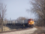 BNSF 4160 Passes Milepost 183 on Main 1 of the Aurora Sub with a Piggyback Train
