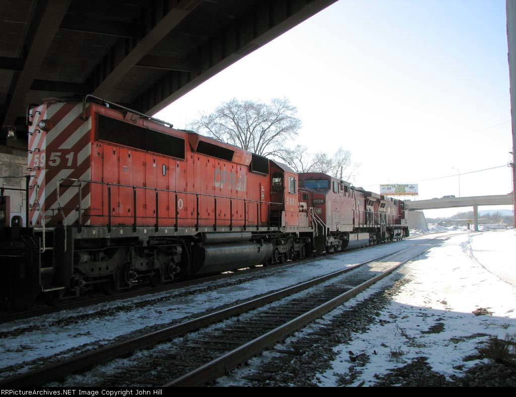 090131026 Westbound CP freight passes Amtrak ex-MILW depot