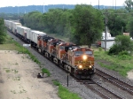 090718036 Westbound BNSF stack train on St. Croix Sub.