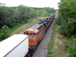 090718038 Westbound BNSF stack train on St. Croix Sub.