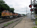 090718063 Eastbound BNSF freight approaching North La Crosse Yard on St. Croix Sub.