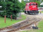 """090718076 CP 4615 display loco near the Copeland Park """"Rail Fair"""""""