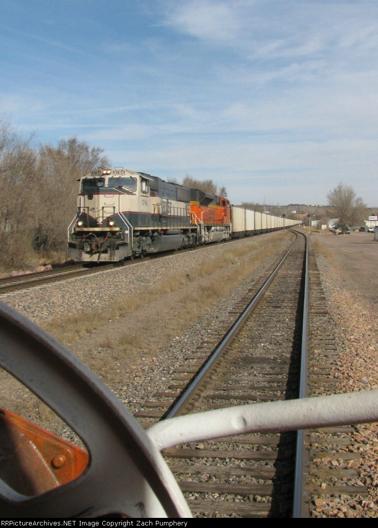 Southbound BNSF Loaded Coal Train Meeting a Northbound UP Yard Job