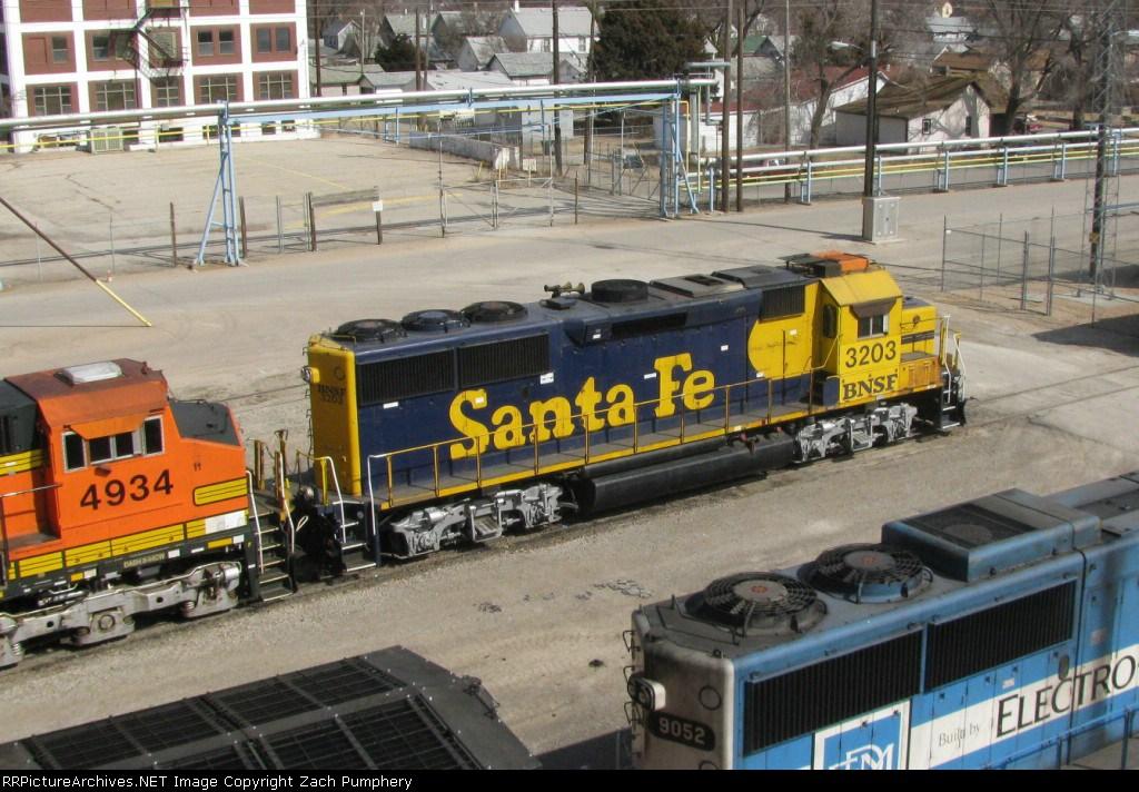 BNSF Locomotives at the Shop