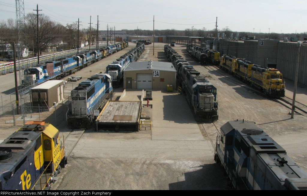 Stored BNSF Locomotives