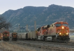 Northbound BNSF Empty Coal Train Passing BNSF and UP Local Assigned Locomotives