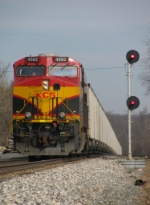 Northbound KCS Empty Coal Train DPU