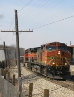 Eastbound BNSF Bare Table Flat Train