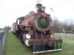 Steam engine on display in Hattiesburg.