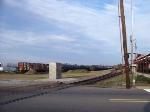 Main line crossing Hardy Street, looking North.
