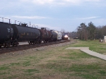 Southbound Crescent carrying my little brother pulls into Hattiesburg's yard.