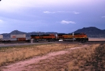 BNSF 4336 and BNSF 1046 leaving Abo Canyon, New Mexico