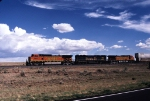 BNSF 4964, BNSF 7510, and BNSF 4621 across New Mexico