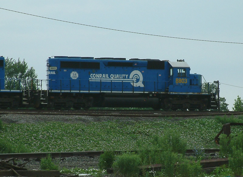 CSX 8803 joins in with hump duties