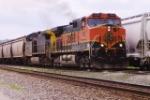 BNSF 1088 leads a CSX Corn Express train