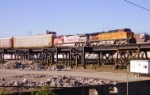 BNSF 4014 heads south