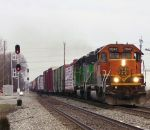 BNSF SD40-2's lead on CSX