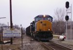 New CSX paint on northbound coal train