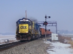 CSX 6915 leads a work extra