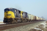 CSX 700 leads on a grainer