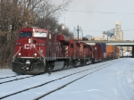 CP 8725 leads X500-02 out of the Sunnyside plant