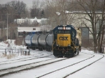 Y106 comes out of Plaster Creek as it returns to the yard
