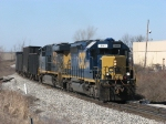 CSX 8141 leading K356-26 east out of town