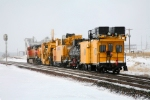 BNSF 4311 Westbound at Osage, Wyoming Feb 14 09