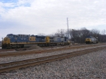 CSX 798, 357, & 310 sit in front of the yard office