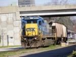 CSX 7577 leads Q693 into Augusta