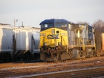 CSX 511 & 21 sit in Augusta Yard with an empty rock train