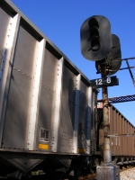 Coal hoppers and Old Georgia Railroad Signal at MP 12.6