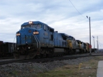 CSX 7929 (Ex.LMS) leads A761 out of Augusta Yard towards Atlanta