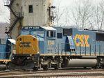 CSX 8744 waits in the yard
