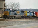 CSX 8744 and 8152 wait in the yard