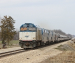 Amtrak ITSC train Control unit leads #29 & #49 down the high speed corridor in southwest Michigan