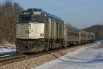 Amtrak's 353 Wolverine west out of Niles @ Portage Rd.
