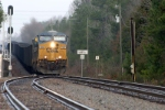 csx south bound loaded coal train enters the goldsville block