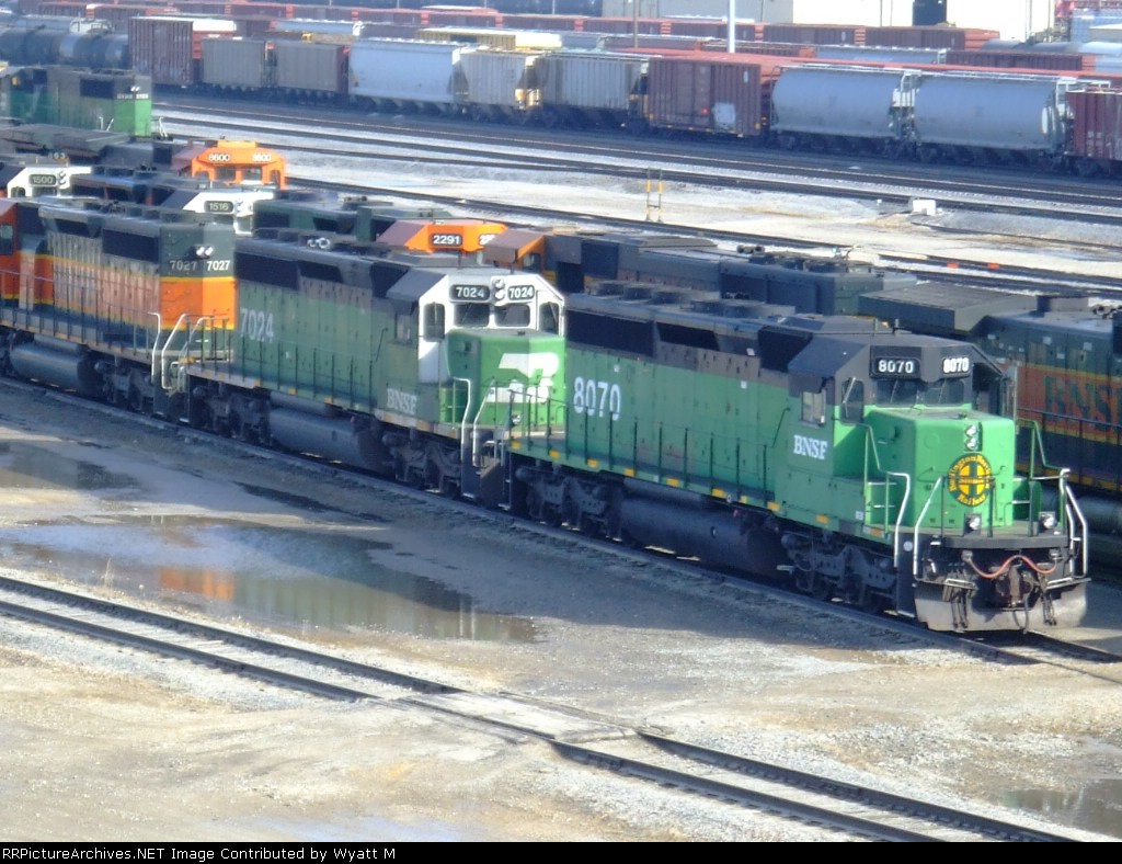 BNSF 8070 and 7024